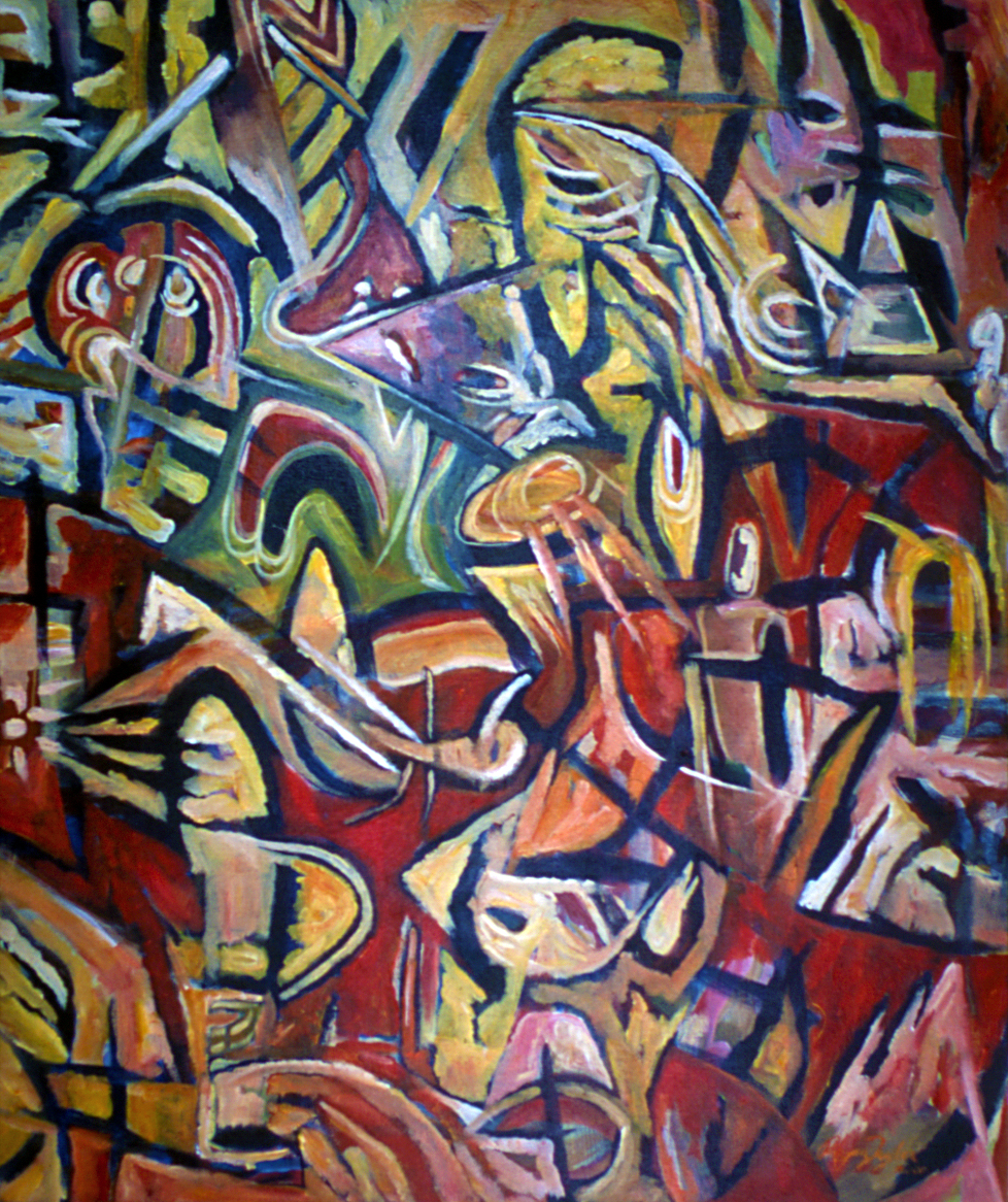 Mojo Abstract I - Abstract Painting by Rhyan Taylor
