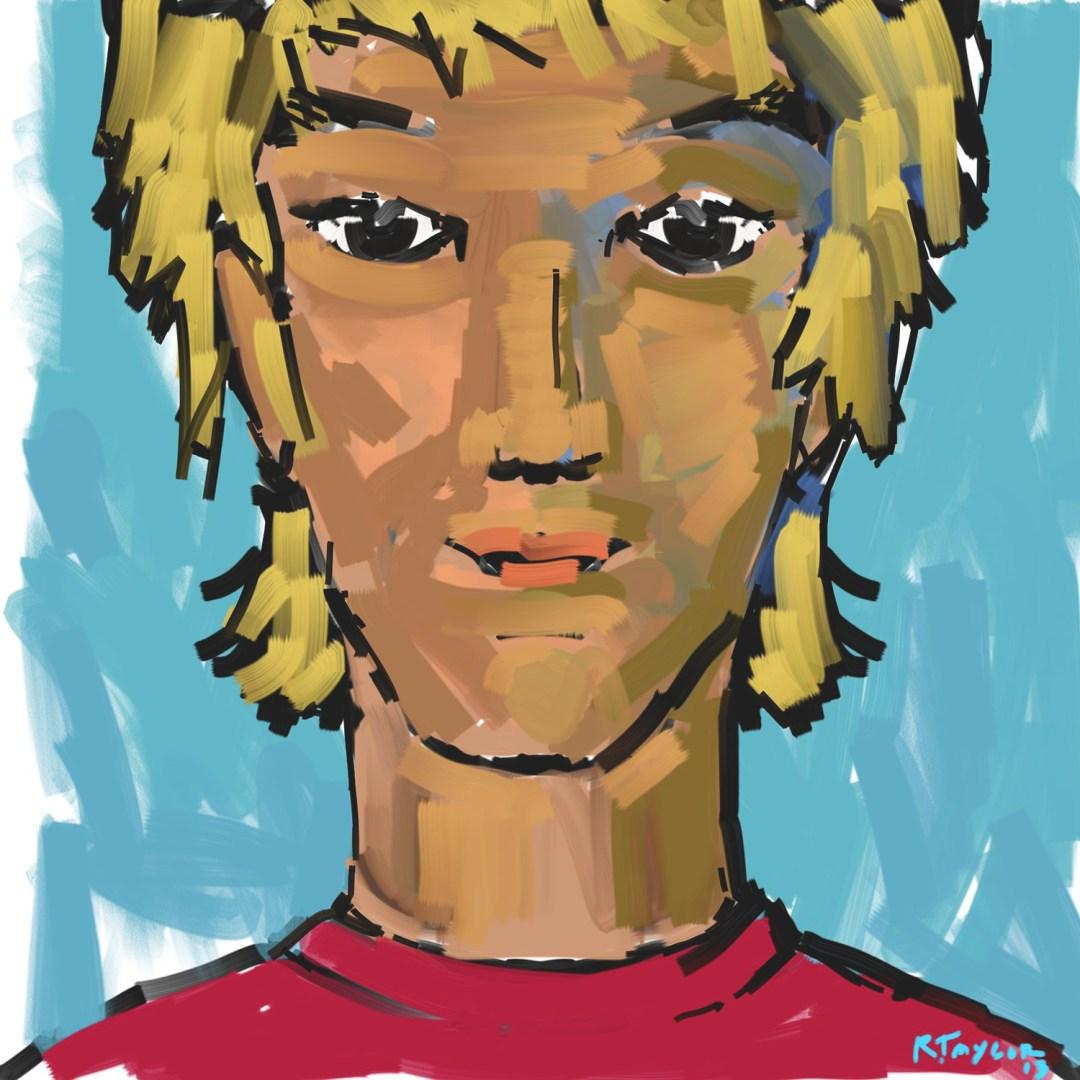 digital illustration of a surfer kid