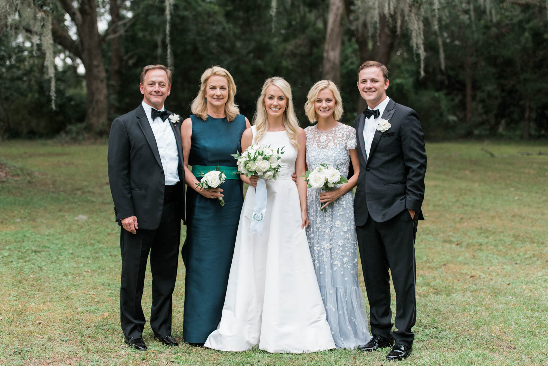 Our Family And Bridal Party On Our Wedding Day