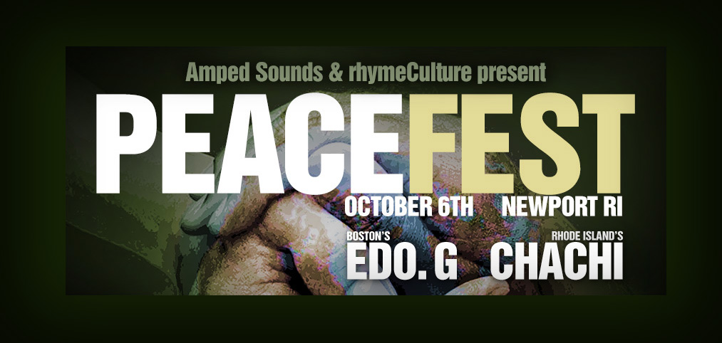 PEACEFEST w/ Edo G. & Chachi | October 6th at King Park | Newport RI