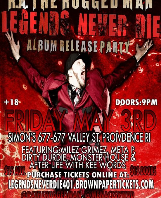 """R.A. the Rugged Man """"Legends Never Die"""" Release Party @ Simon's 677 