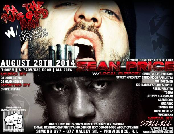 Sean Price & RA the Rugged Man Flyer 8/29/14