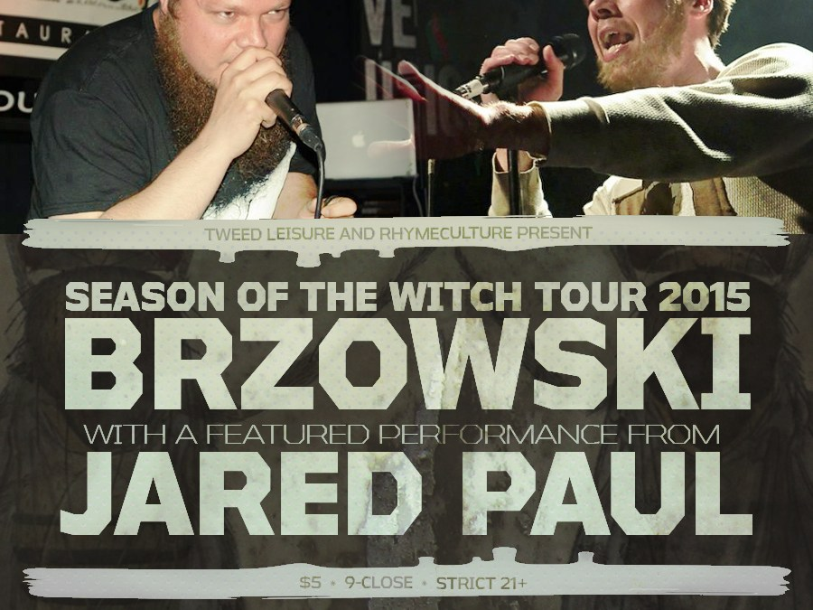 BRZOWSKI // JARED PAUL // IONEYE – FRIDAY 11/20/15