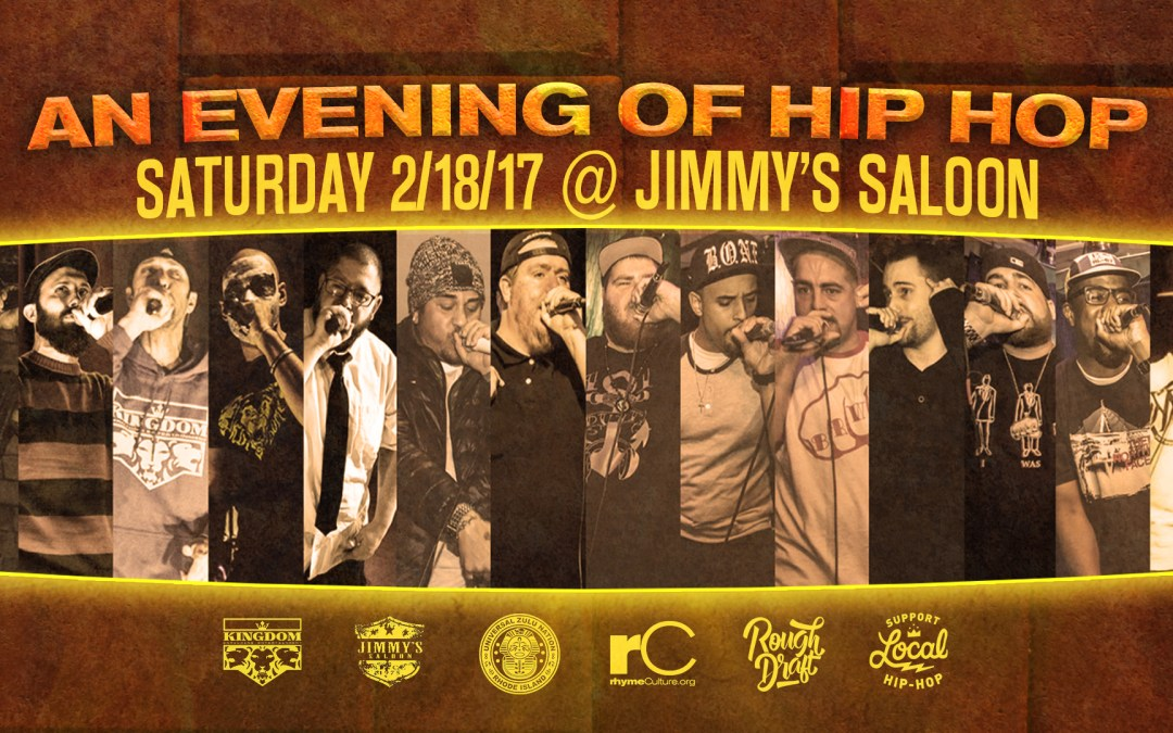 An Evening of Hip Hop – 2/18/17 @ Jimmy's Saloon