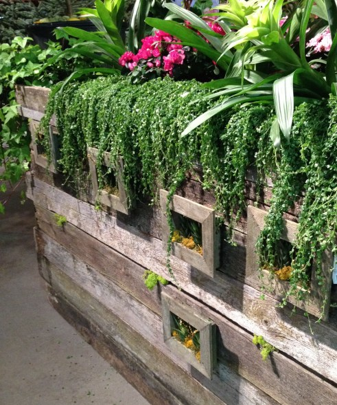 Fence as plant container