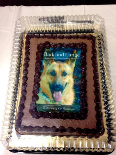 Isis cake before Village Books event
