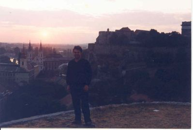 Esztergom, one of his favourite towns in Hungary, 1992