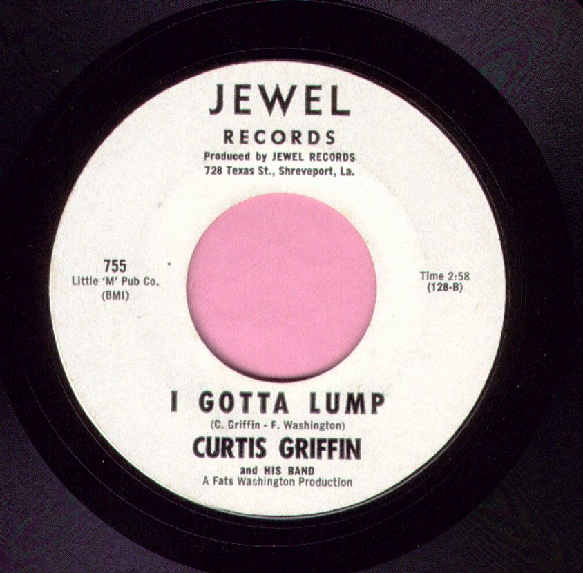 "Curtis Griffin "" I Gotta Lump "" Jewel Demo M-"