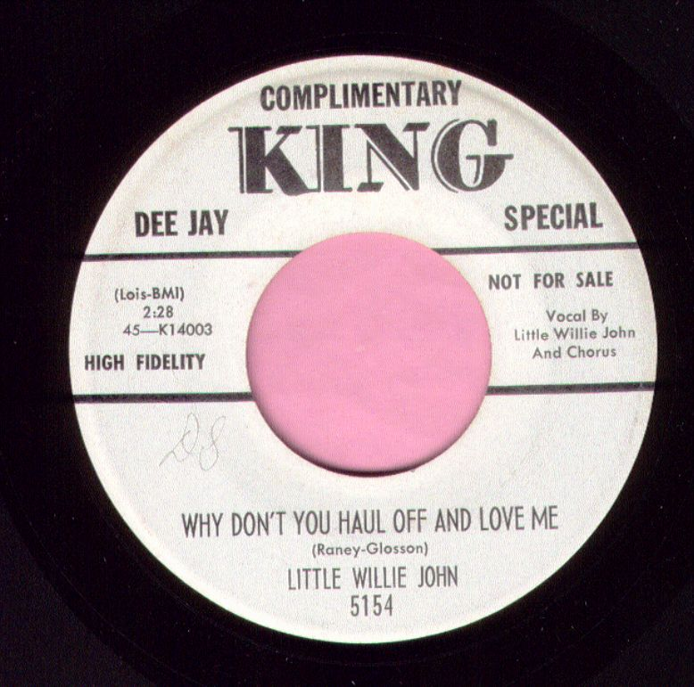 "Little Willie John "" Why Don't You Haul Off And Love Me "" King Demo Vg+"
