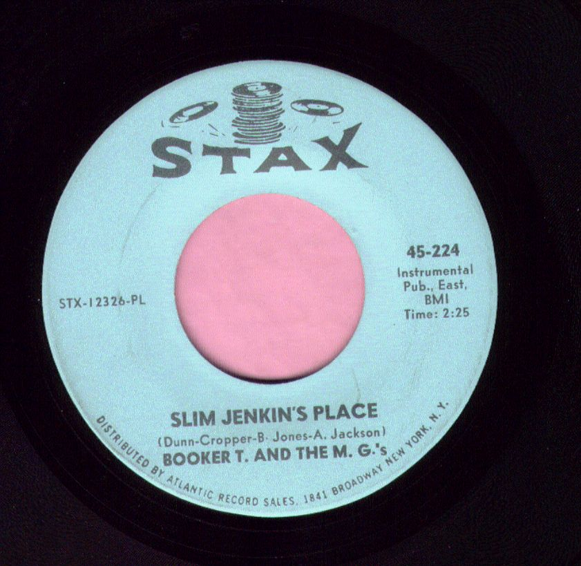 "Booker T. And The M.G.'s "" Slim Jenkin's Place "" Stax Vg+"