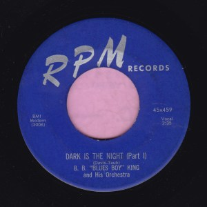 "B.B. King "" Dark Is The Night "" RPM Records Vg+"