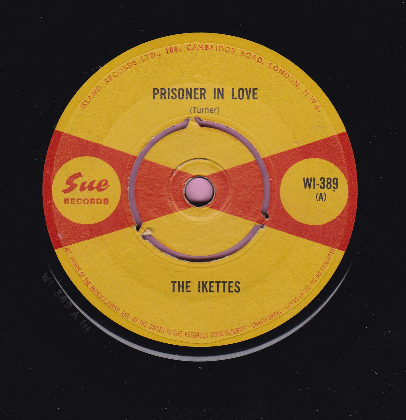 "The Ikettes "" Prisoner In Love "" / "" Those Words "" Sue Vg+"