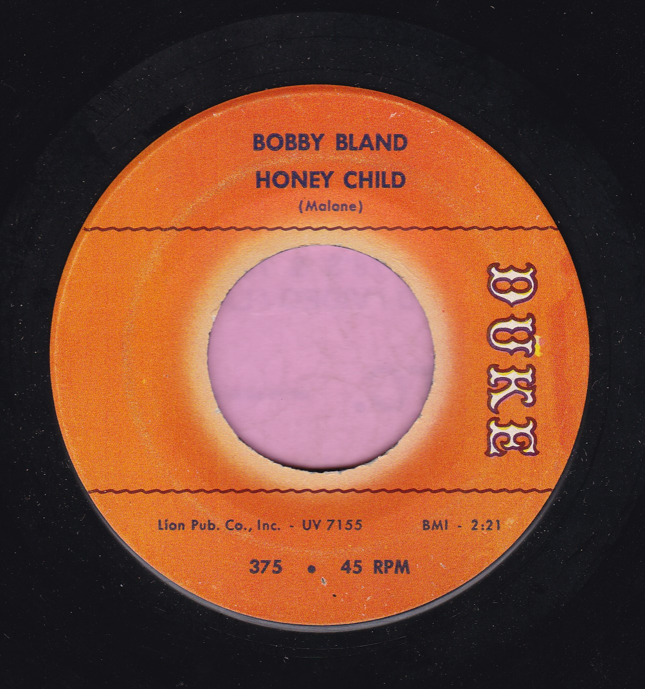 "Bobby Bland "" Honey Child "" Duke Vg+"