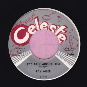 "Ray Agee "" Let's Talk About Love "" Celeste Vg+"