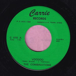 "The Combinations "" Voodoo "" Carrie Records Vg+"