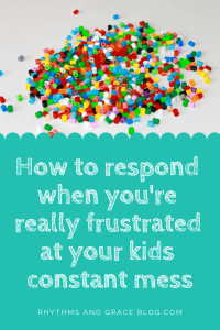 Feel guilty for yelling at your kids? Here's how to stop yelling at child and what to do for discipline instead; grace based discipline; how to get kids to clean up their mess; what to do about the constant mess