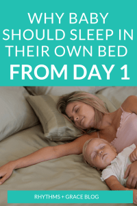 Where should baby sleep? Can a newborn sleep in the swing? A rock n play? Is cosleeping okay for newborn? Here is some newborn sleep help and sleep training tips about getting your newborn to sleep in crib.