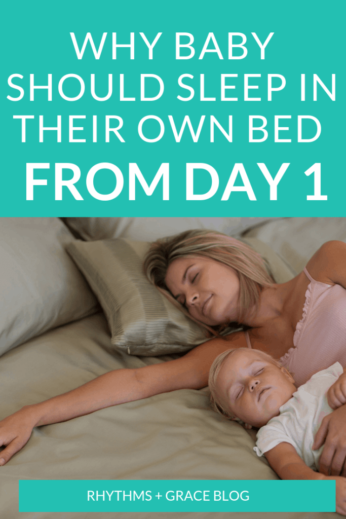Can't get baby to sleep in their own bed? Here are 8 reasons to have your newborn sleep in a crib. #babysleep #newborn #newborntips #sleeptraining
