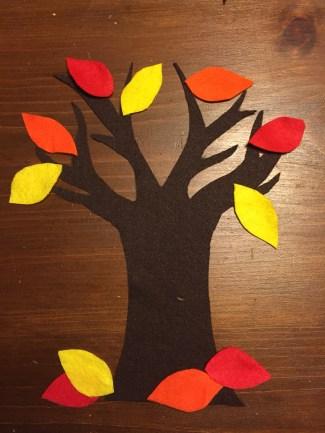 autumn felt tree