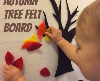 Autumn Tree Felt Board