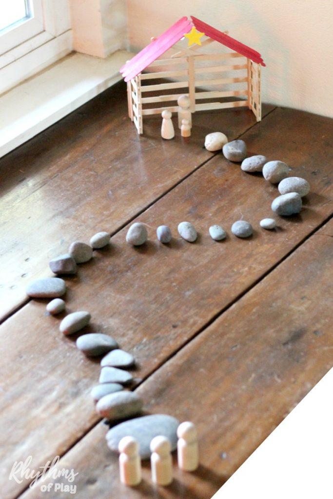 Simple Stone Advent Calendar Nativity Scene Rhythms Of Play