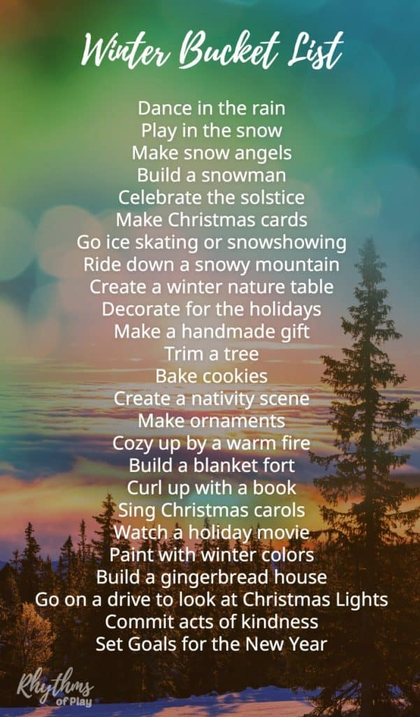 Winter Bucket List Family Guide For Seasonal Activities