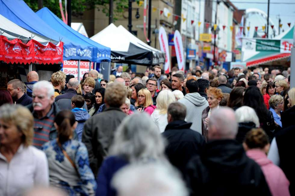 The 10th annual Bolton Food and Drink Festival, Victoria Square, Bolton, Lancashire. Record crowds attended the four day event. Picture by Paul Heyes, Monday August 31, 2015.