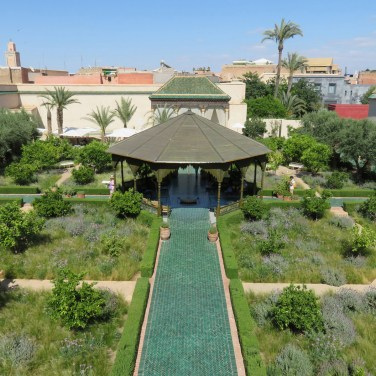 Lush green at Le jardin secret
