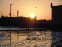 Coucher du soleil sur le port d'Essaouira