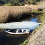 Vertido contaminante al Río Tambre en Ponte Nafonso, Outes