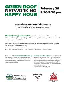 Green Roof Networking Happy Hour