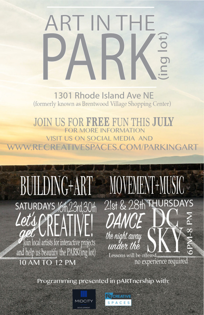 Art in the Park(ing) Lot Flyer