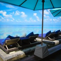 Beachside in the Maldives