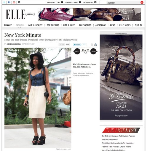 Elle Magazine - New York Fashion Week Streetstyle