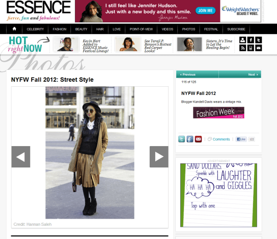 Essence Fall 2012 Streetstyle