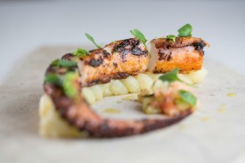 grilled octopus and potato