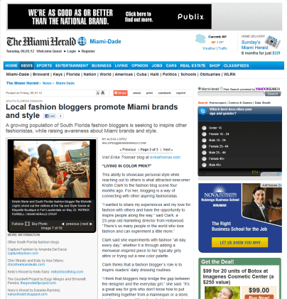 The Miami Herald Fashion Bloggers