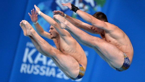 Чемпионат мира FINA 2015. Синхронные прыжки в воду.Архивное фото