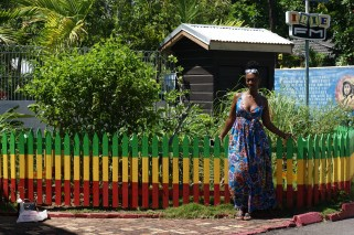 Just chilling outside Bob Marley's yard