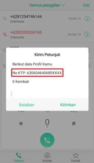 kode cek profile kartu indosat