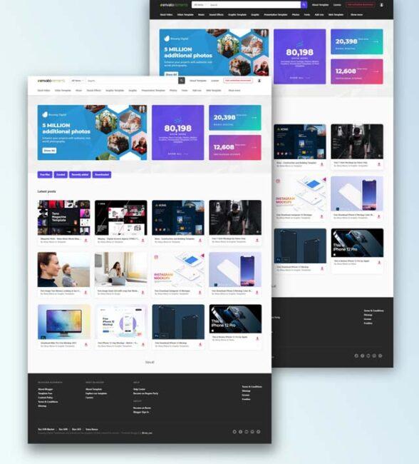 Binuang Digital Template Blogger Premium
