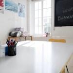 A sunny classroom