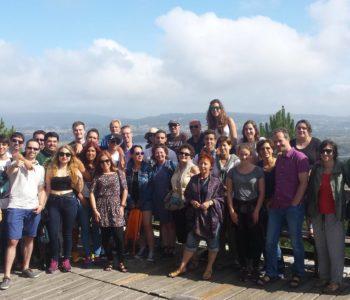 Students at viewpoint