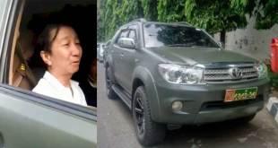 Ahon pakai mobil dinas TNI AD