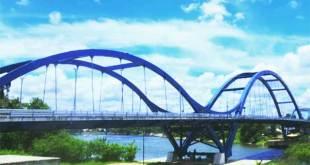 Jembatan Waterfront City Bangkinang