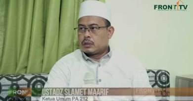 Ketua Umum PA 212 Slamet Maarif