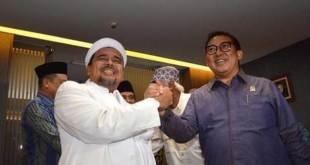 Fadli Zon bersama Habib Rizieq Shihab.
