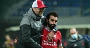 Manajer Liverpool Jurgen Klopp dan Mohamed Salah.