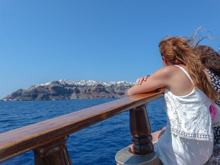 Santorini boat trip
