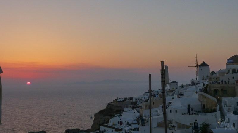 Sunset in Santorini Oia